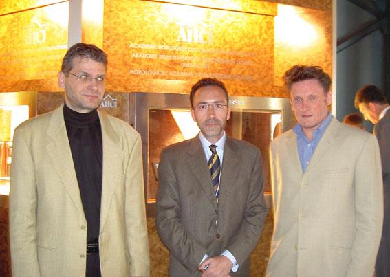 Con Robert Greubel y Stephen Forsey en Basel 2004